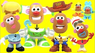 Unboxing Toy Story 4 Andy's Playroom Mr. Potato Head Characters