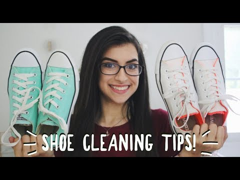 HOW I CLEAN SHOES! | SHOE CLEANING TIPS