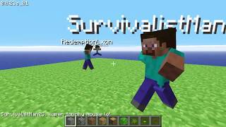 Playing Spleef On Minecraft Classic 0.0.23a_01