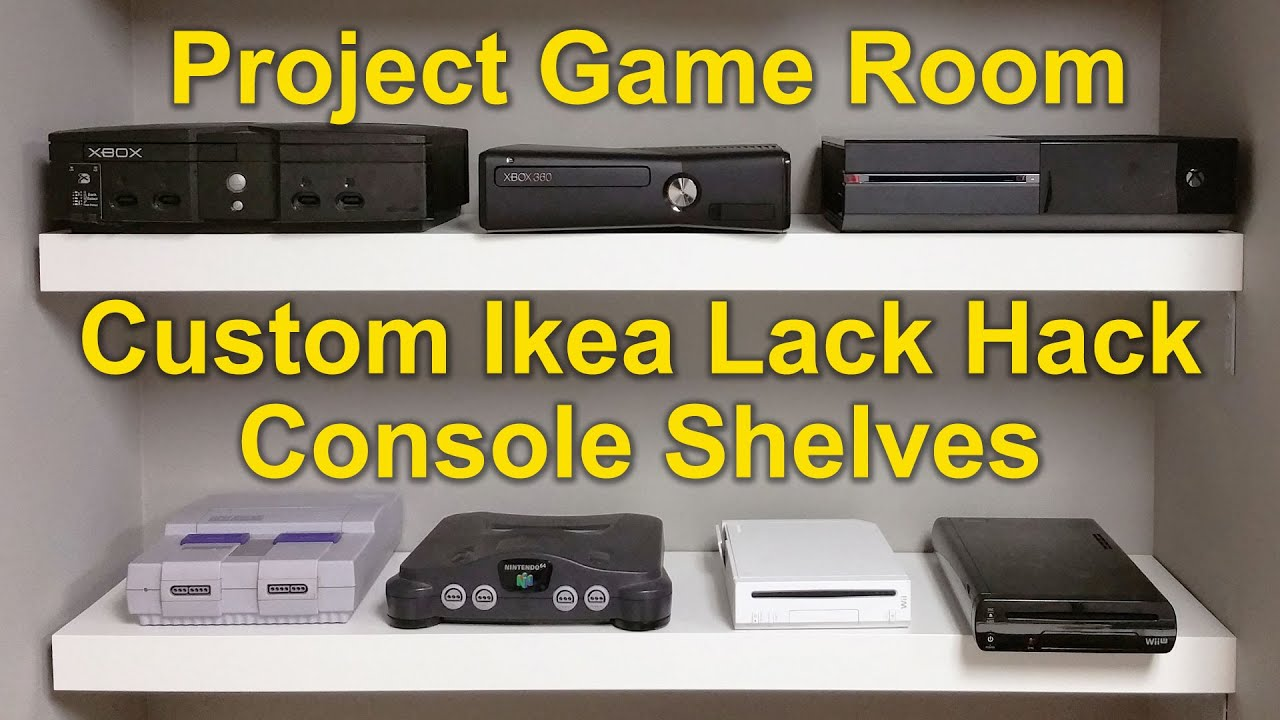 Project Game Room - Vlog #02 | Custom Ikea Lack Hack - YouTube