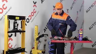Cómo cambiar Kit amortiguadores HONDA CR-V I (RD) - vídeo gratis en línea