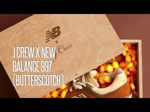 low priced e27d3 055b9 J CREW x NEW BALANCE 997 (BUTTERSCOTCH)/ SNEAKERS STAR - YouTube