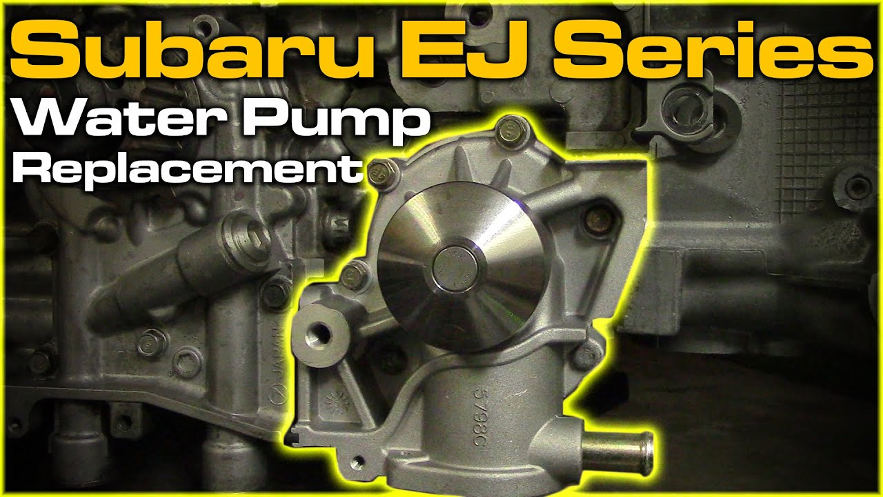 medium resolution of subaru water pump replacement