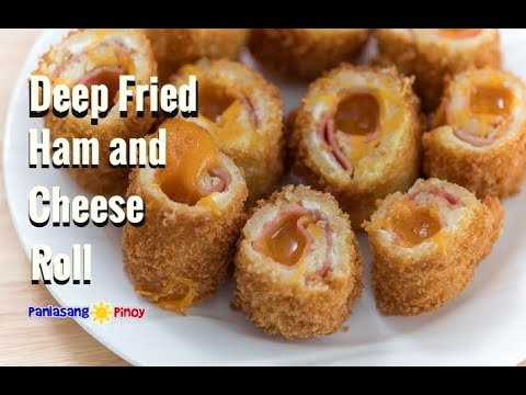 Deep Fried Ham and Cheese Roll