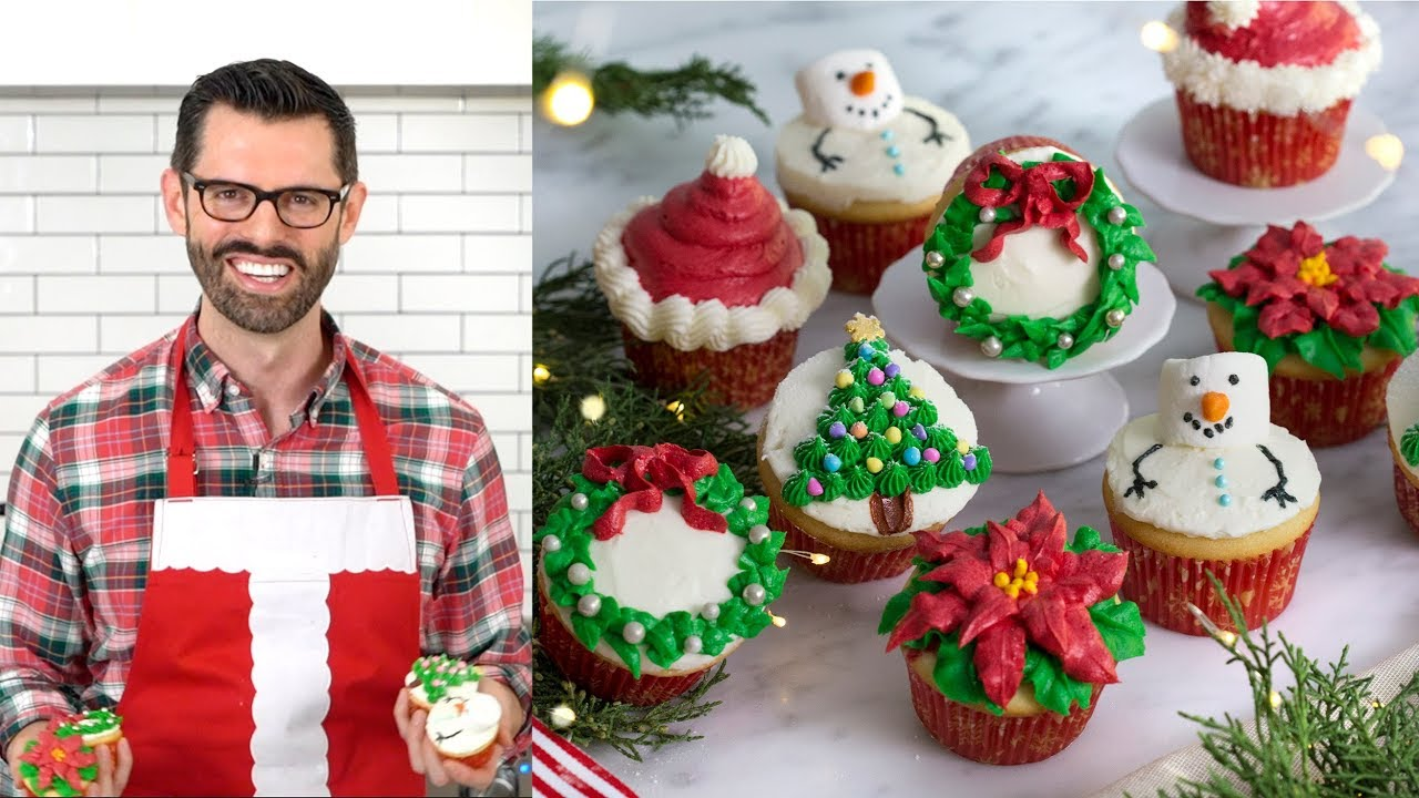 How To Make Christmas Cupcakes Youtube