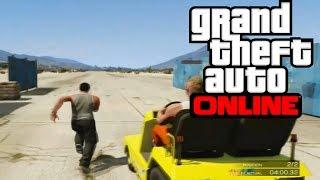 GTA V ONLINE - Test De Velocidad ? xD - Yo corriendo VS Airtug !!