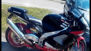 Arilia rsv 1000 mille - time lapse - motorcycle