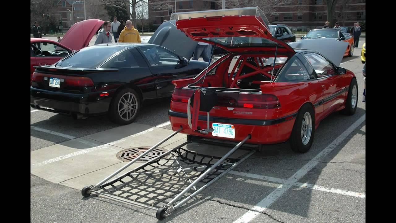 Mitsubishi eclipse turbo FWD drag car @ MSU Racing Club car show sound competition Apr. 23 2011 ...