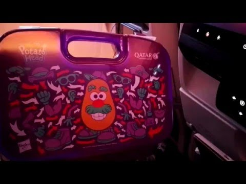 Qatar Airways A380 800 Economy class Kids meal box