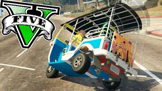 SUPER TAXI TUC TUC LOCO !! IMPOSIBLE VOLCAR !! GTA V MODS PC Makiman