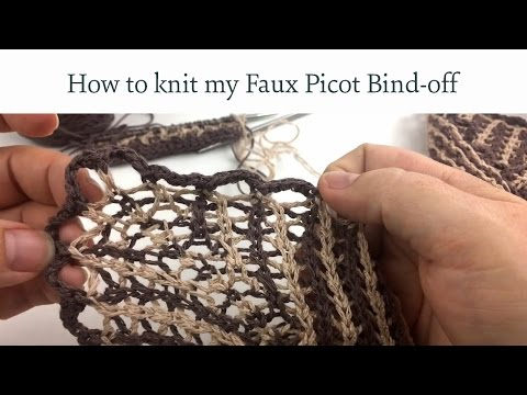 How To Knit My Faux Picot Bind Off For The Lacy Pinstripe Cowlette