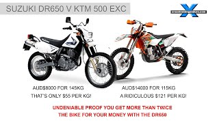 DR650 v KTM - THERE CAN ONLY BE ONE WINNER