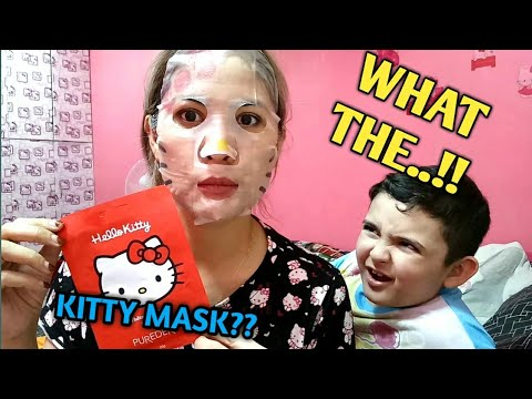 VLOG 50.. NAKIKAIN SI DEION SA MANILA HOTEL!FREE BUFFET! PLUS TRIED THE HELLO KITTY WHITENING MASK!!