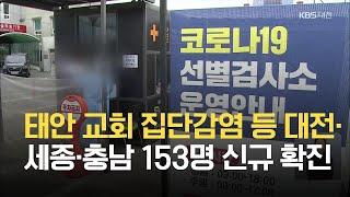 태안 교회 집단감염 등 대전·세종·충남지역 153명 신…