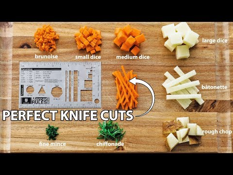 How To Master Basic Knife Skills - Knife Cuts 101
