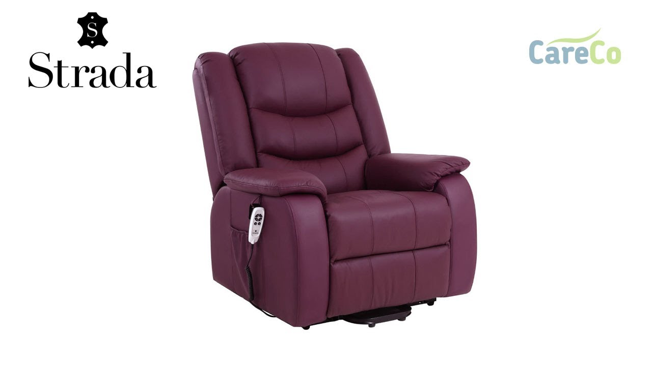 Strada Dual Motor Leather Rise Recliner