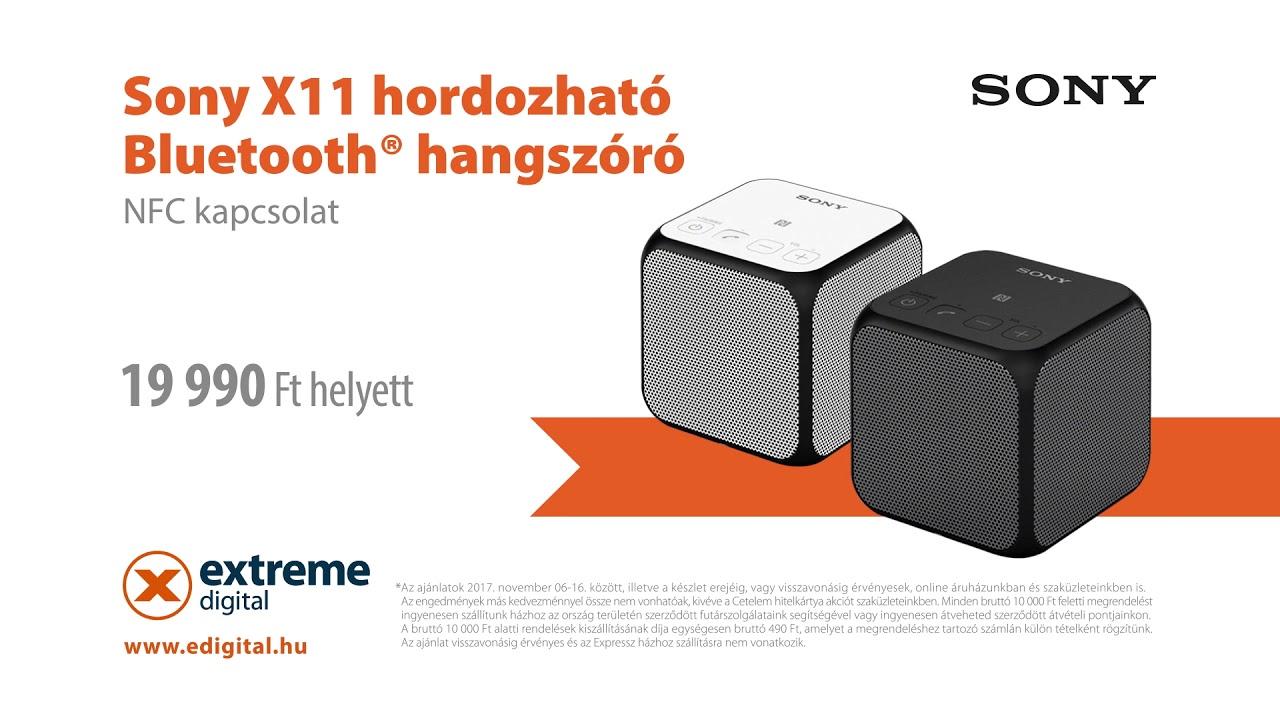458bb0e3d0c1 Extreme Digital - Szórakoztató elektronika - Sony SRS-X11-es Bluetooth  hangszóró - 2017.11.06-16.
