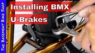 Installing BMX U-Brakes aฑd Brake Mount Kit- Step By Step