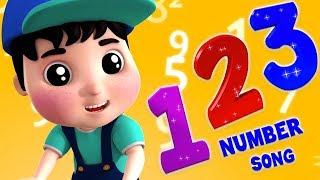 Zahlen lernen für Kinder | Kinderlieder deutsch | kinderreime | Numbers Song | Farmees Deutschland