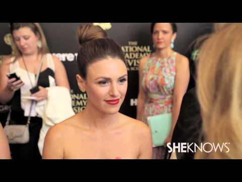 Elizabeth Hendrickson on the Daytime Emmy Red Carpet - SheKnows Goes to the Shows