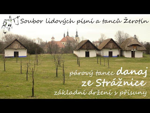 SLPT Žerotín - Párový tanec danaj ze Strážnice - základní držení s přísuny