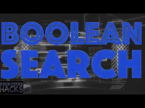Boolean Search 101