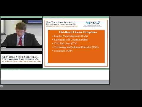 NYS STLC Webcast - Understanding Export Regulations
