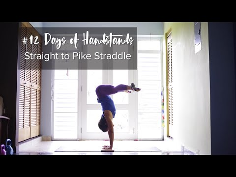 Straight to Pike Straddle | YogaSlackers 12 Days of Handstands