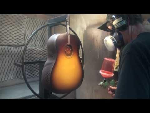 Inside Collings Guitars: Applying the Sunburst Finish