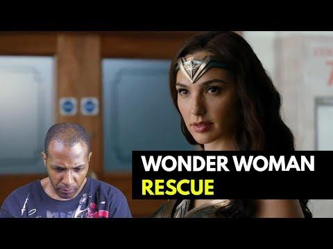 Justice League's Wonder Woman Rescue Clip - REACTION
