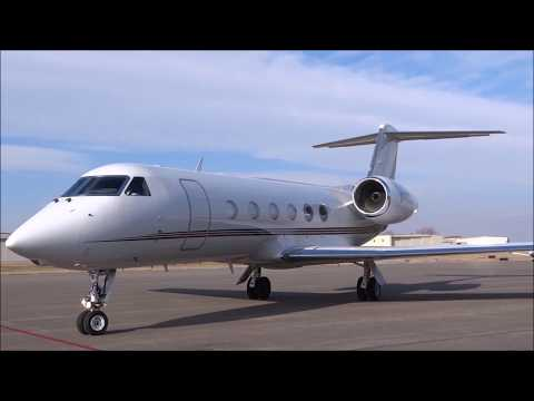 Gulfstream G450 - Landing, Arrival, Engine Start and Taxi