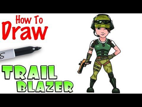 How To Draw Twitch Prime Trailblazer | Fortnite