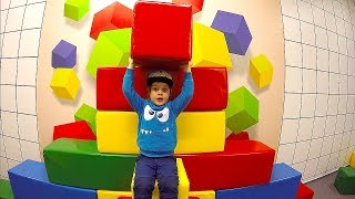 Kids Indoor Playground Playing with toys Building Bricks & Blocks Family Fun Playtime Pretend Play