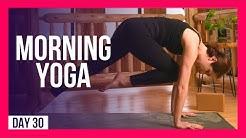10 min FULL BODY Intermediate Morning Yoga – Day #30 (FULL BODY MORNING YOGA FLOW)