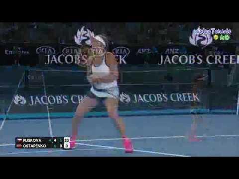 Karolina Pliskova vs Jelena Ostapenko Australian Open 2017 R3 Highlights