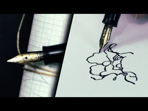Vintage 1950's Gold Nib Fountain Pen Unbox & Drawing || You Send it, I Art it (Venus President)