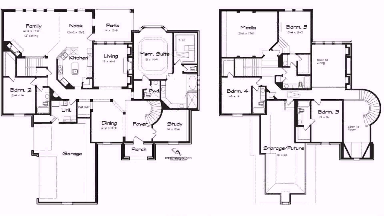2 Story 5 Bedroom House Floor Plans See Description Youtube