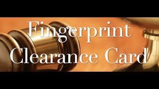 The Behan Law Group, P.L.L.C. Video - The Fingerprint Clearance Card Rollercoaster.