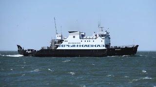 паромная переправа через Керченский пролив. Ferry across the Kerch Strait