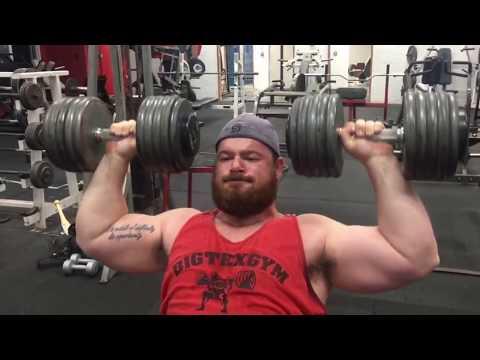 100 lb DUMBBELL SHOULDER PRESS