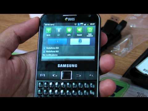 Samsung Galaxy Y Pro DUOS B5512 / B5510 reviww HD ( in ROmana ) - www.TelefonulTau.eu -