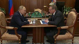 Губернатор Омской области Александр Бурков рассказал президенту о планах развития региона.
