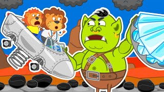 Lion Family | Journey to the Center of the Earth №59. Rainbow Diamond Tree | Cartoon for Kids