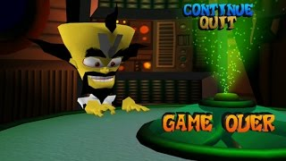 Crash Bandicoot : The Wrath of Cortex (XBOX) - Game Over Lines ||GAME ARCHIVE||