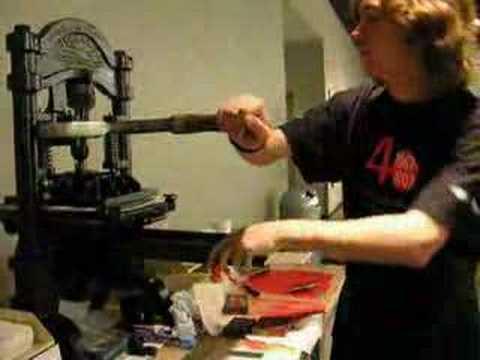 Ancienne presse à bras de l'imprimerie