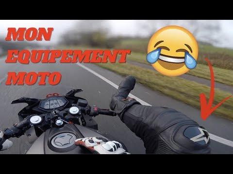 LES PIEDS SUR LE GUIDON 😂 MON ÉQUIPEMENT MOTO !