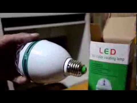 Unboxing And Testing Out Full Color Rotating Led Lamp