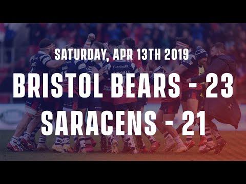 Bristol Bears 23 - 21 Saracens (2019)
