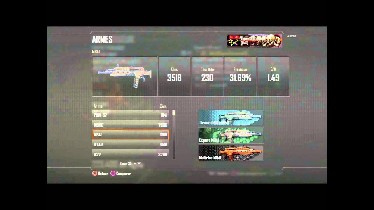 Bilan Black Ops 2 Classes Darmes Ratio Cartes De Visites PS3