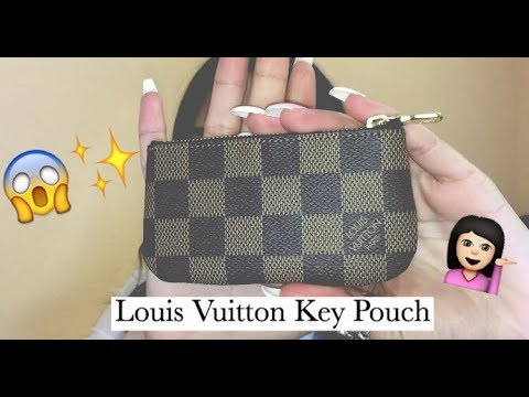 ce997487853c Louis Vuitton Key Pouch (Key Cles) Review! - YouTube